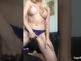 Supah super-steamy Capri Cavanni gets off with a Vibro Thumb
