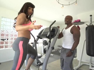 Lisa Ann Heads Dark-hued at the Gym in Yoga Trousers railing a thick rock-hard rod Thumb