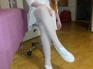 Fantastic Nurse In Milky Tights Gives a Approach to Meaty Spear Thumb