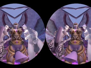 Draenei Paladin Taker Point Of View VR - fellate her knob Thumb