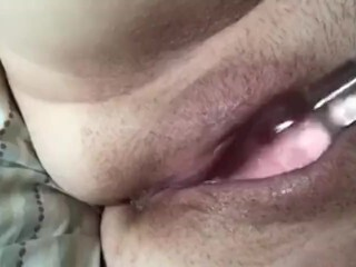 Cougar Humps Cascading Raw Cunt With Glass Fake Penis Thumb