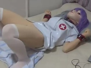 Kigurumi costume play nurse masturbationmasturbation with vibro Thumb