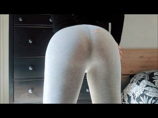 Phat Ass White Girl smashed with torn yoga trousers - Rebel Candy Thumb
