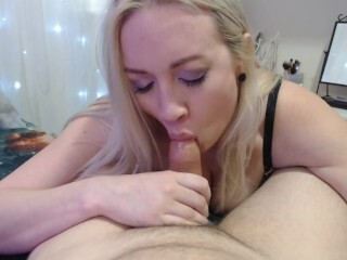 Point Of View Monstrous Breast Platinum-blonde Oral Spunk Gulp Thumb