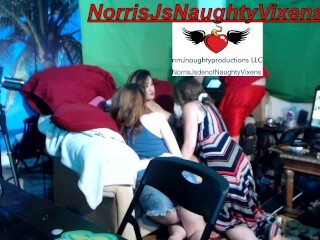 Insatiable romp in my guest room with me & 3 models Autumn Gram, Stacy Sweet,&Jade Thumb